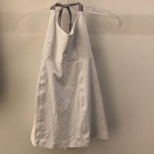 Lululemon white with gray tank, sz 4, 64259
